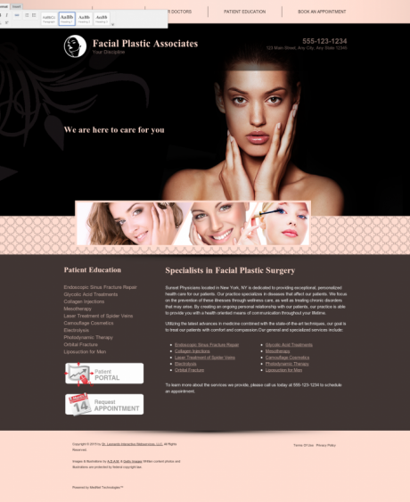 Facial Plastic Surgery Website Preview #6