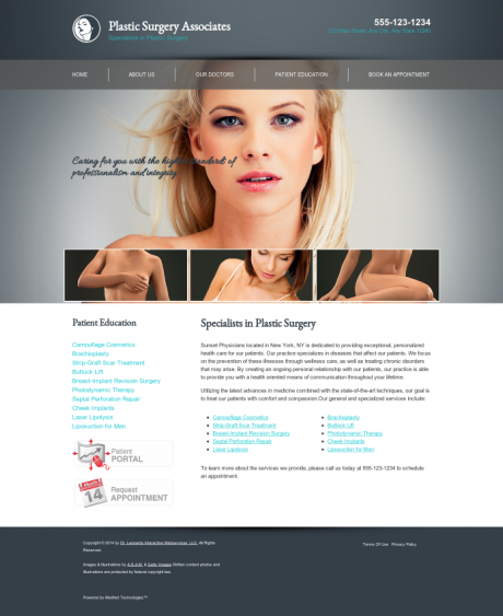 Plastic Surgery Website Preview #2