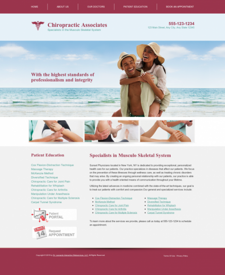 Chiropractic Website Preview #1