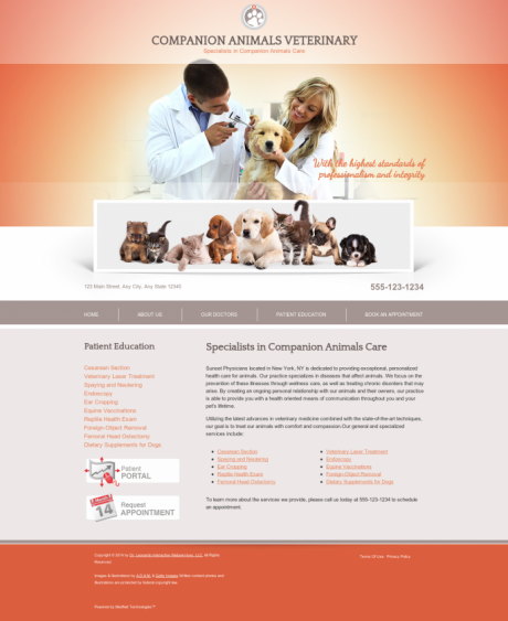 Veterinary Website Preview #1