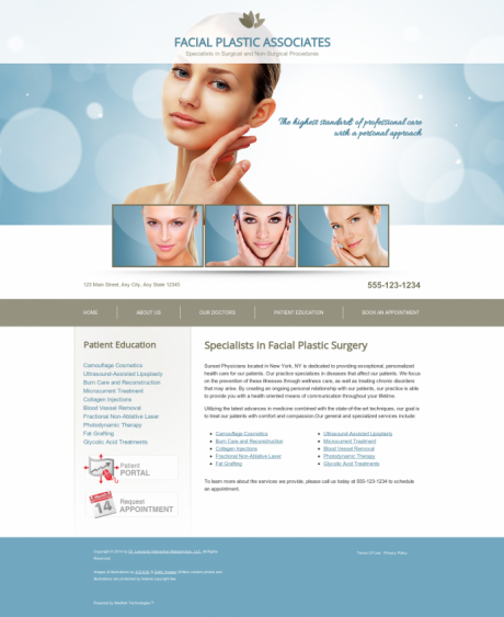 Facial Plastic Surgery Website Preview #1