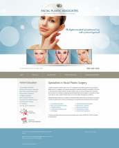 Facial Plastic Surgery Website Thumbnail #1