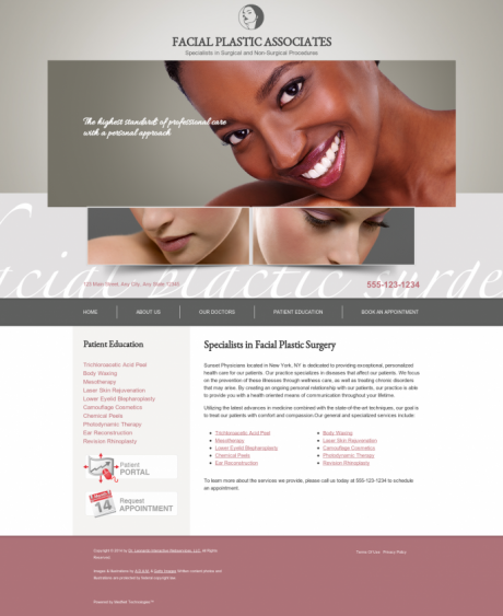 Facial Plastic Surgery Website Preview #3
