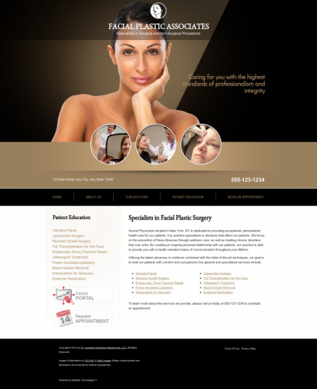 Facial Plastic Surgery Website Preview #5