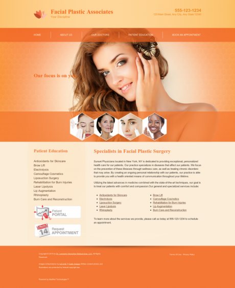 Facial Plastic Surgery Website Preview #2