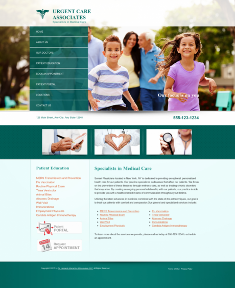 Urgent Care Website Preview #3