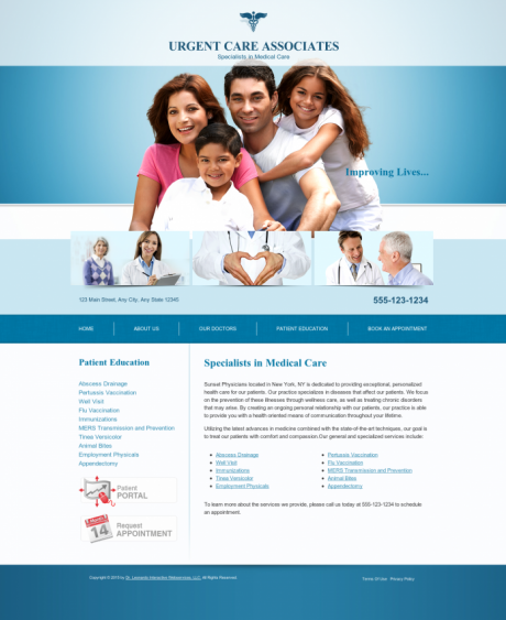 Urgent Care Website Preview #4