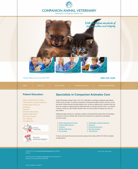 Veterinary Website Preview #8