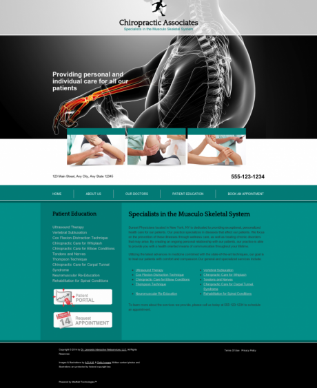 Chiropractic Website Preview #6