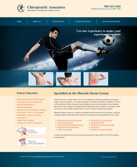 Chiropractic Website Preview #7