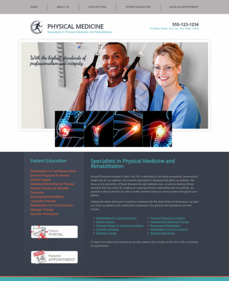 Physical Medicine Website Preview #8