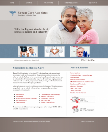 Urgent Care Website Preview #5
