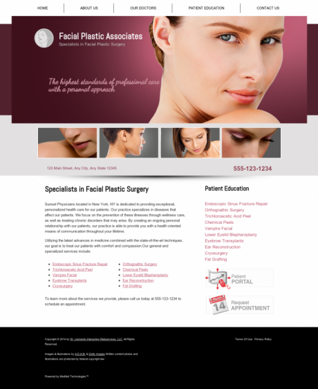 Facial Plastic Surgery Website Preview #11