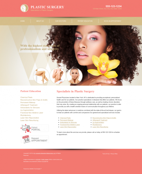 Plastic Surgery Website Preview #1