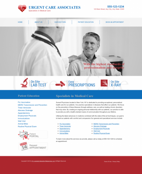 Urgent Care Website Preview #6
